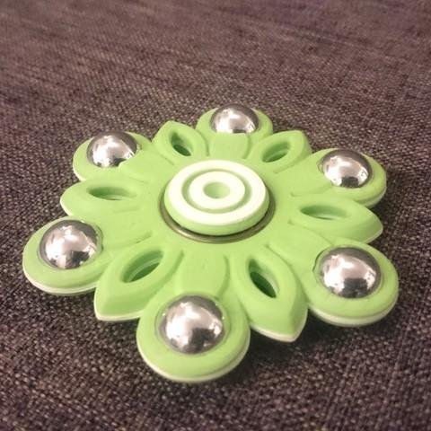 Download free 3D printer designs Flower Hand Spinner, 87squirrels