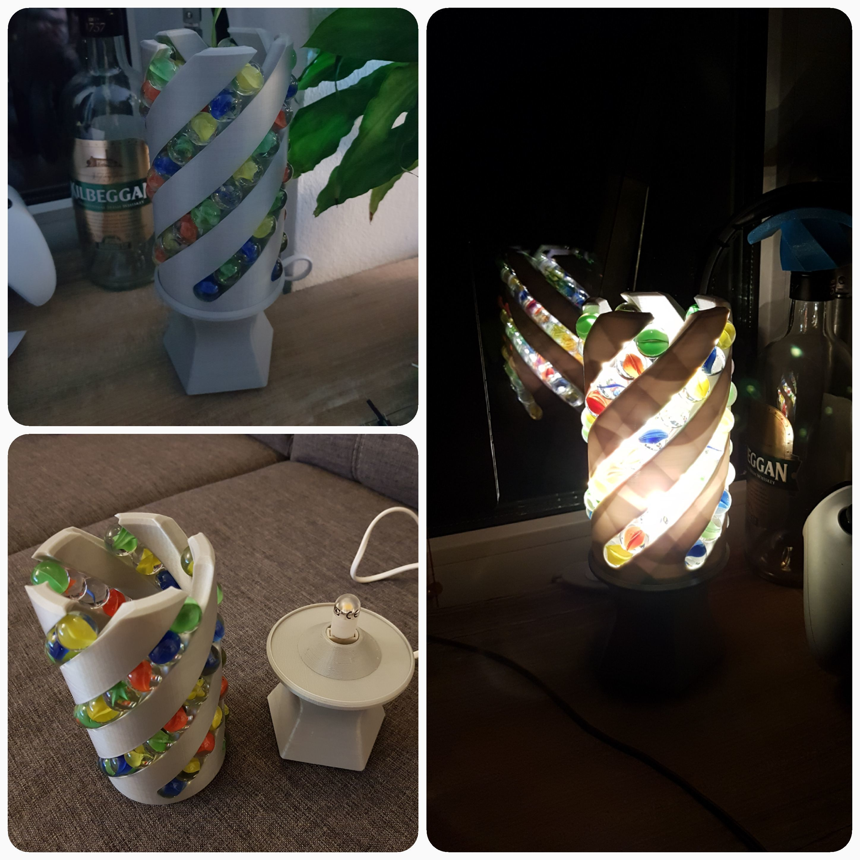 20180209_180140.jpg Download free STL file Marble Desk Lamp • Model to 3D print, 87squirrels