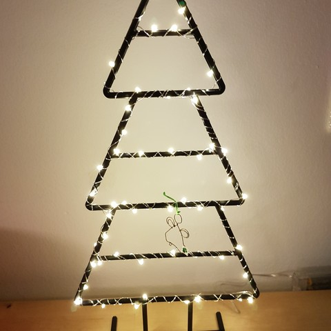 Free 3D file Wireframe Xmas Tree ・ Cults