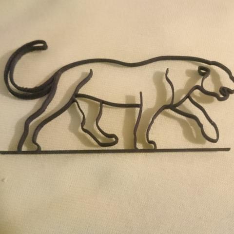 Download free STL file One Line Panther • 3D printable design, 87squirrels
