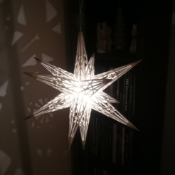 Download free STL file Star Light (Weihnachtsstern) • 3D printable template, 87squirrels