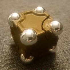 Free 3D printer designs Cube Spinner with Ball-Vertices, 87squirrels