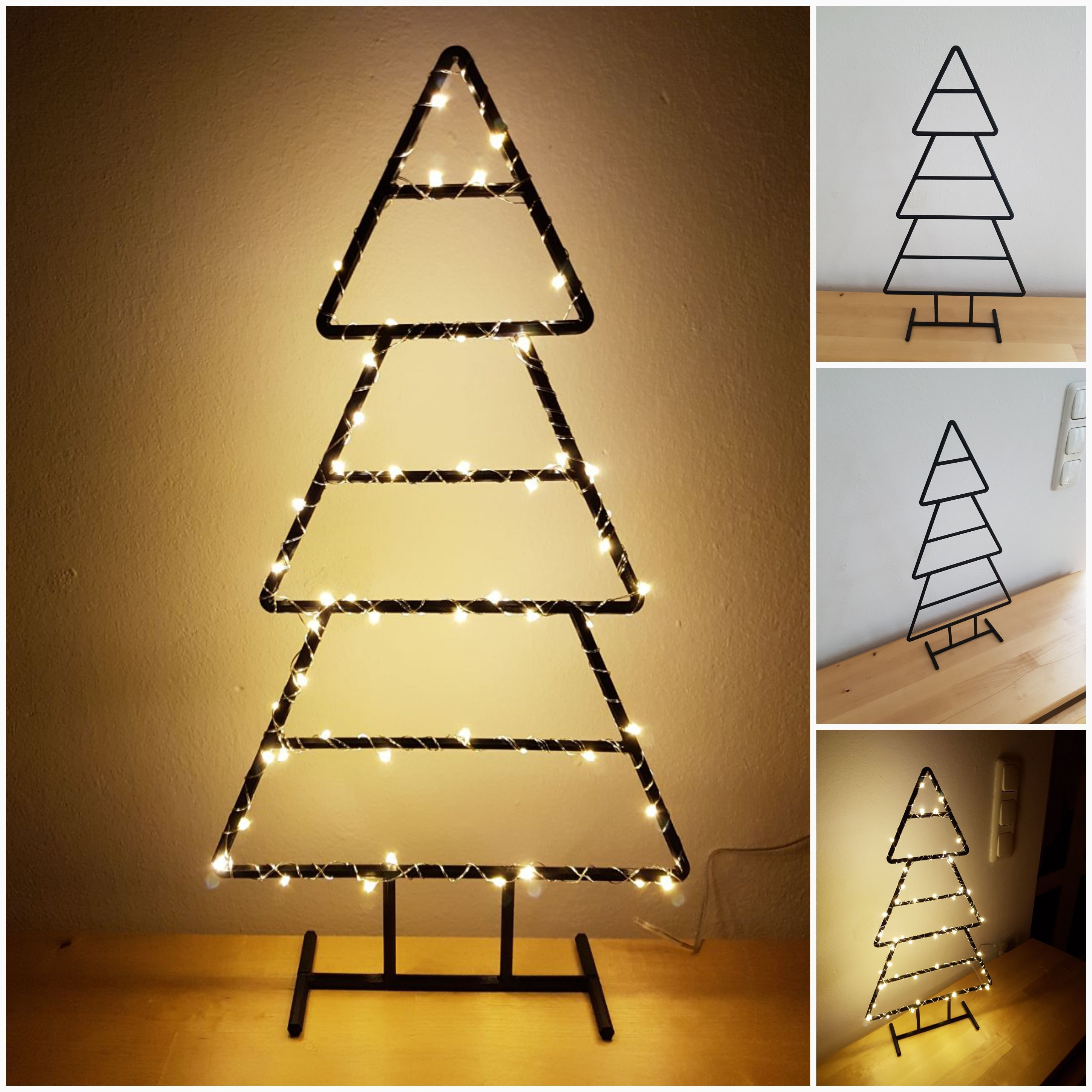 Collage_20171022_142214.jpg Download free STL file Wireframe Xmas Tree • 3D printable model, 87squirrels