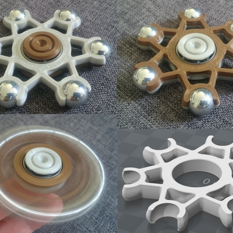 Free STL files 13mm Ball Hand Spinner, 87squirrels