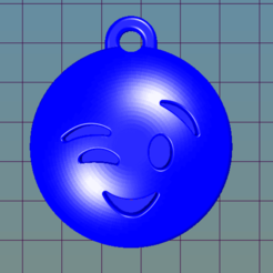 Download free 3D printer files Happy Emoji keychain, i3Dsd