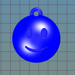 Download free 3D printing templates Simple Emoji keychain, i3Dsd