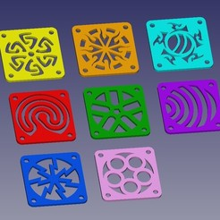 Archivos 3D gratis 40mm_fan_cover_set, Merioz3D