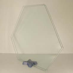 Free glass bed stand STL file, Merioz3D