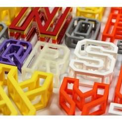 Download 3D printer model BEAM 3D printable Typeface, AlexWaterson