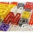 Download STL file BEAM 3D printable Typeface • 3D print template, AlexWaterson
