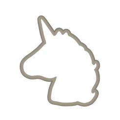 Impresiones 3D Cortador de galletas de unicornio, Lucas_mad03