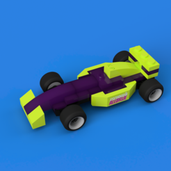 Download free 3D printing templates Lego F1, KevinParada