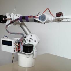 IMG_001.png Télécharger fichier STL gratuit Bras robotisé Arduino 6 axes • Objet à imprimer en 3D, jpwild