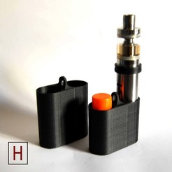 Free stl file E-cigarette case and air ring, HorizonLab
