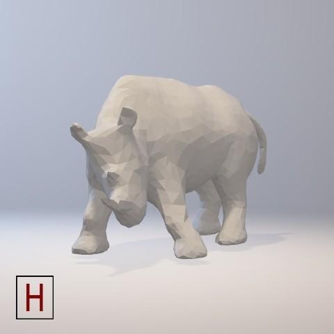 stl files Low poly - Rhino, HorizonLab