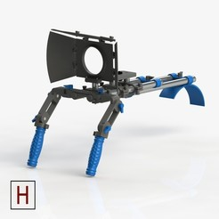Free 3D printer file Shoulder rig, HorizonLab