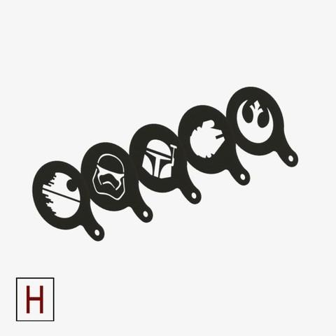 3d printer designs Chocolate-Coffee stencils Star Wars collection, HorizonLab