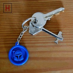 3D printer models Boba Fett key fob, HorizonLab