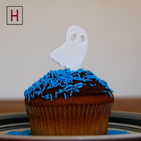 Cults - Topper - Ghost logo.jpg Download STL file Night of the living muffins • 3D printing object, InSpace