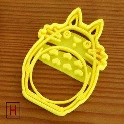 Download 3D printing templates Cookies cutter - My Neighbor Totoro, HorizonLab
