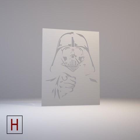 STL files Star Wars - Stencil - Darth Vader, HorizonLab