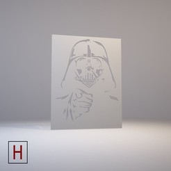 Download 3D printing templates Star Wars - Stencil - Darth Vader, HorizonLab