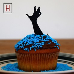 STL file Night of the living muffins - Zombie hand 2, HorizonLab
