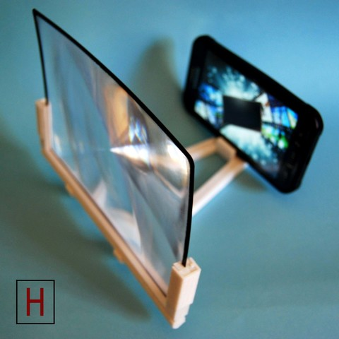 Download free STL files Screen magnifier for smartphones