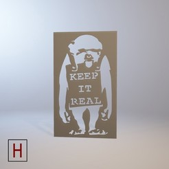 archivos stl Stencil - Banksy - Keep it real, HorizonLab