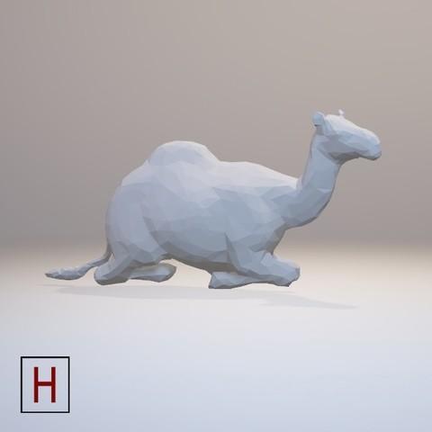 stl file Low poly - Camel, HorizonLab