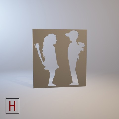 Cults - Banksy - Boy meets girls logo.jpg Download STL file Stencil - Banksy - Boy meets girl • 3D print template, Made_In_Space