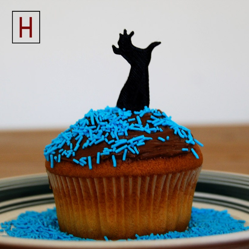 Cults - Topper - Zombie Hand 4 logo.jpg Download STL file Night of the living muffins • 3D printing object, InSpace