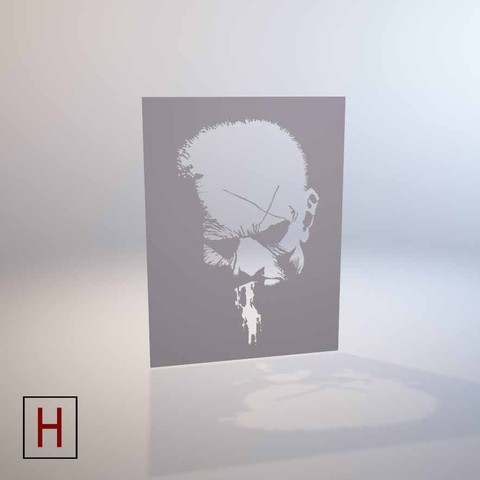 3D print model Sin City - Hartigan - Stencil, HorizonLab