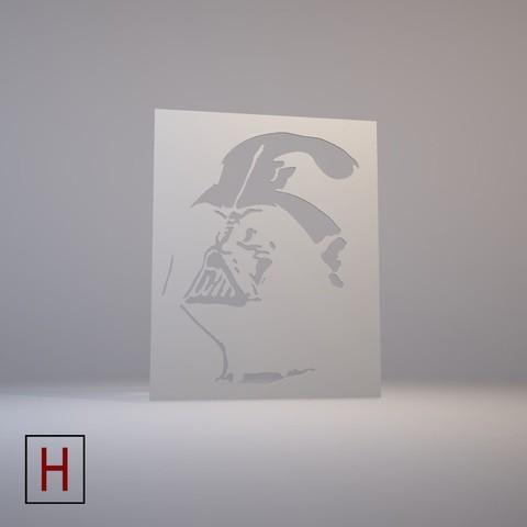 3d model Stencil – Star Wars – Darth Vader, HorizonLab
