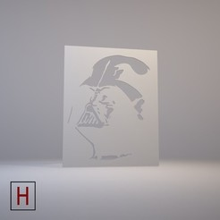 3d model Stencil – Star Wars – Darth Vader, HorizonLab