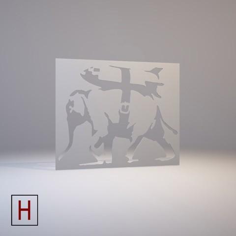 3D print files Stencil - Banksy - Heavy Weaponry, HorizonLab