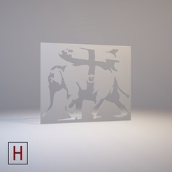 Download 3D printing templates Stencil - Banksy - Heavy Weaponry, HorizonLab
