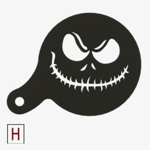 Free stl file Chocolate-Coffee stencils Jack, HorizonLab