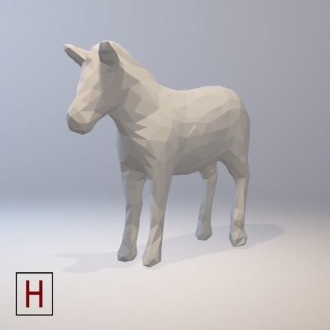 3D printer models Low poly - Zebra, HorizonLab
