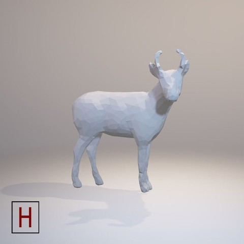 stl files Low poly - Antelope, HorizonLab