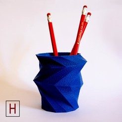 stl file Multigonal pen holder, HorizonLab