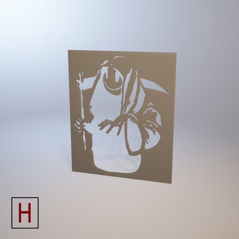 Cults - Banksy - Death 2 logo.jpg Download STL file Stencil - Banksy - Death • 3D printing model, InSpace