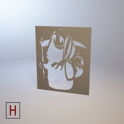 3d printer model Stencil - Banksy - Death, HorizonLab