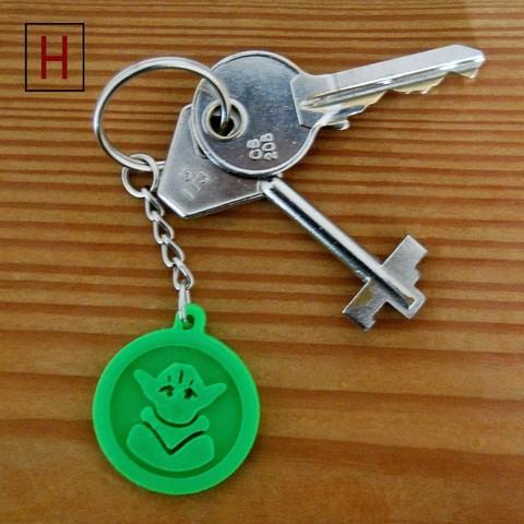 stl file Yoda key fob, HorizonLab
