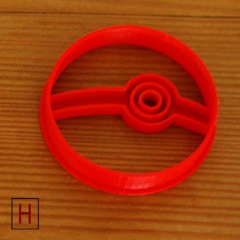 stl files Cookies cutter - Pokeball, HorizonLab