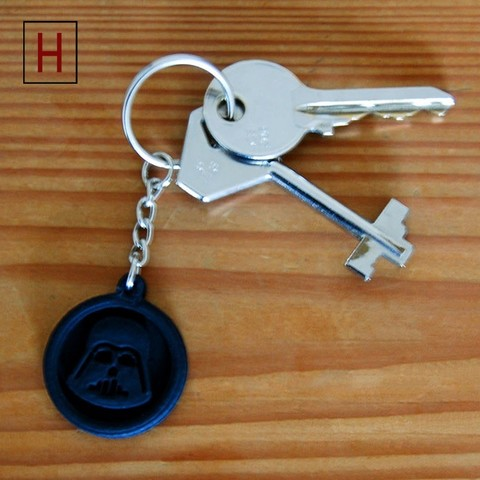 Cults - Darth Vader key fob 2 logo.jpg Download STL file Darth Vader key fob • 3D printable template, InSpace