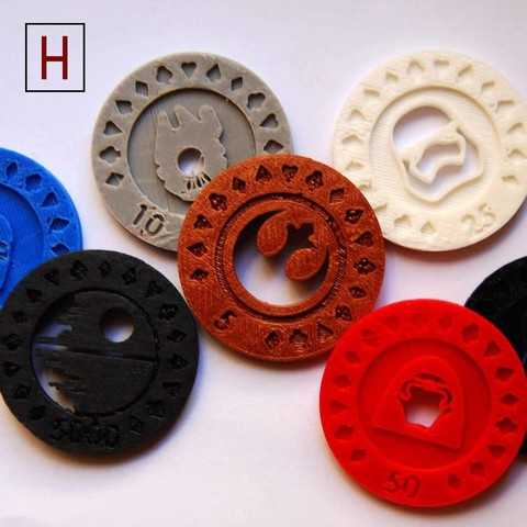 Download 3D printing templates Star Wars - Poker Chips, HorizonLab