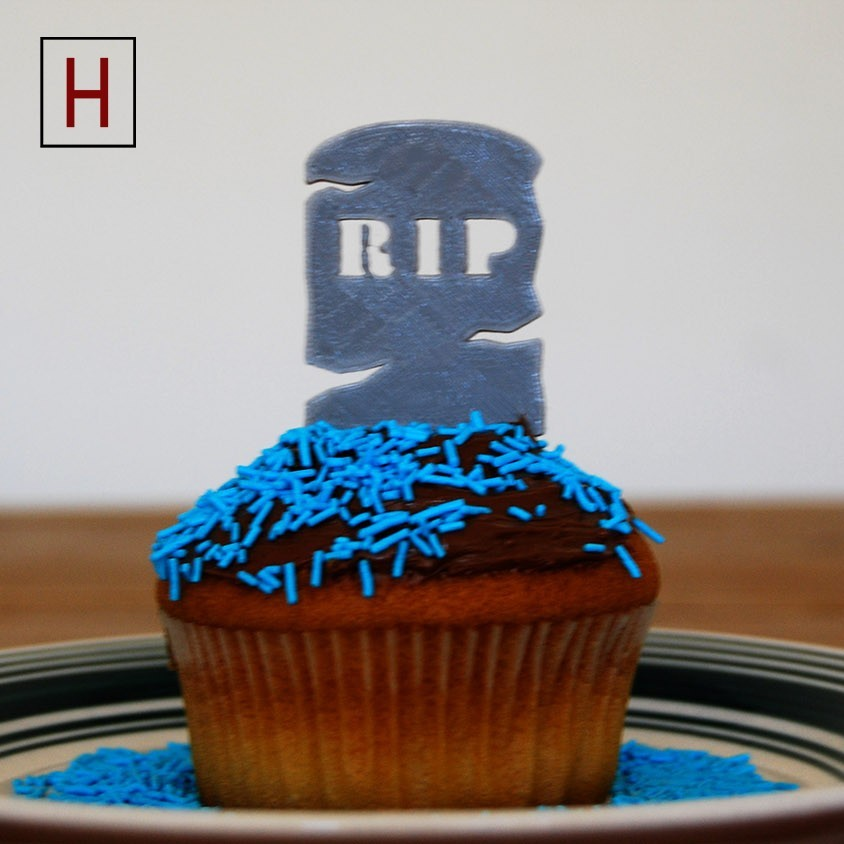 Cults - Topper - Rip 1 logo.jpg Download STL file Night of the living muffins - RIP 1 • 3D printing model, Made_In_Space