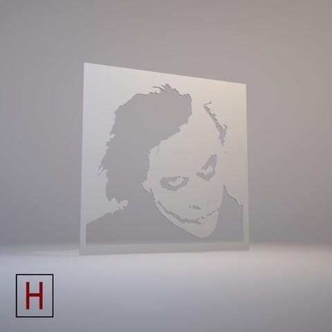 Joker - Stencil 3D model, HorizonLab