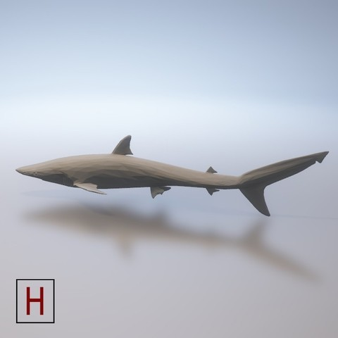 Download 3D printing models Shark - low poly, HorizonLab